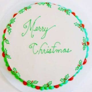 Christmas Cake {Red & Green Layer Cake}