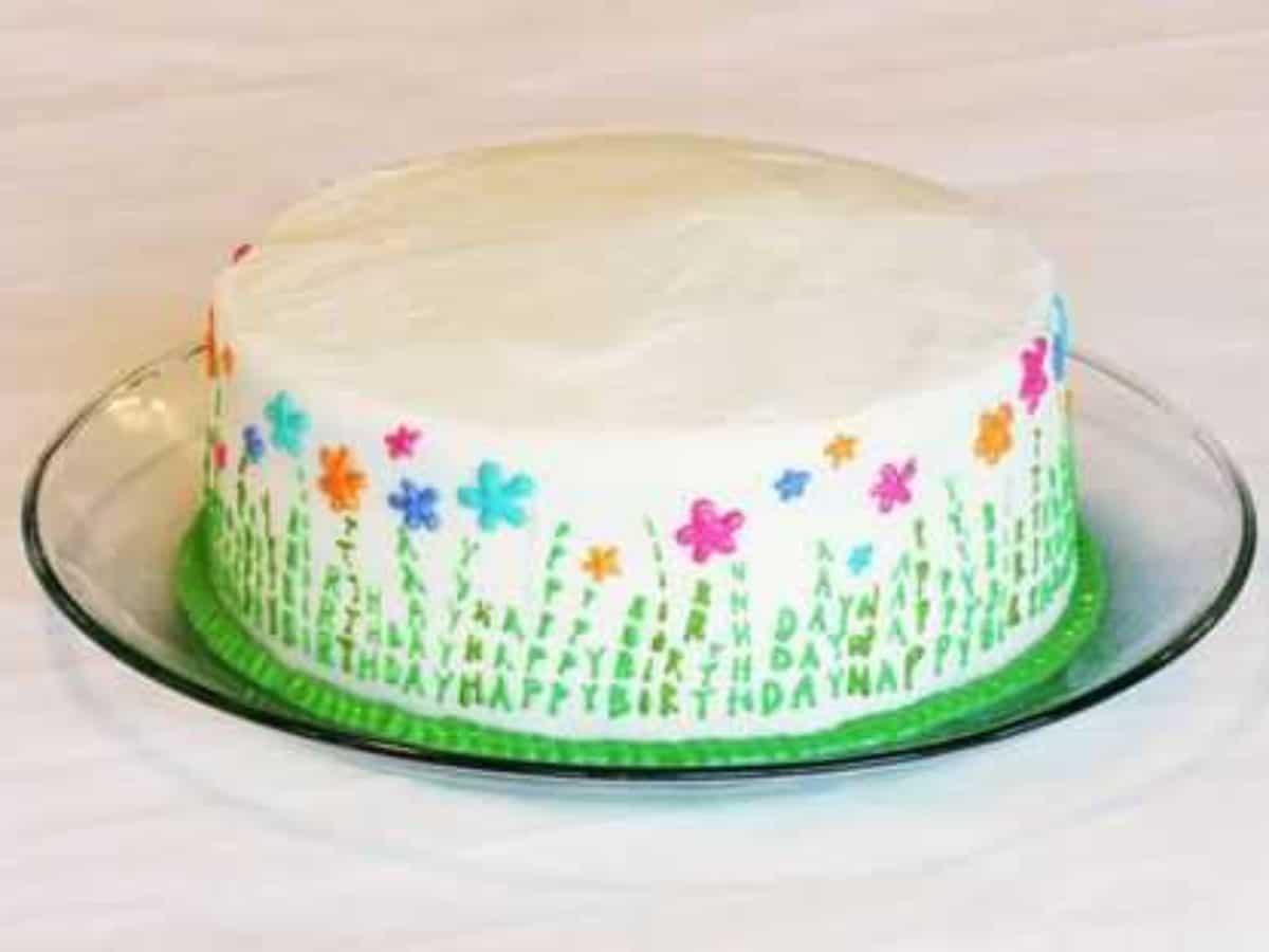 Peachy Spring Celebration Cake I Am Baker Funny Birthday Cards Online Alyptdamsfinfo