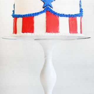 Fourth of July Cake {Surprise Inside Cake!}