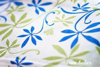 Blue/Green Botanical Wedding Cake