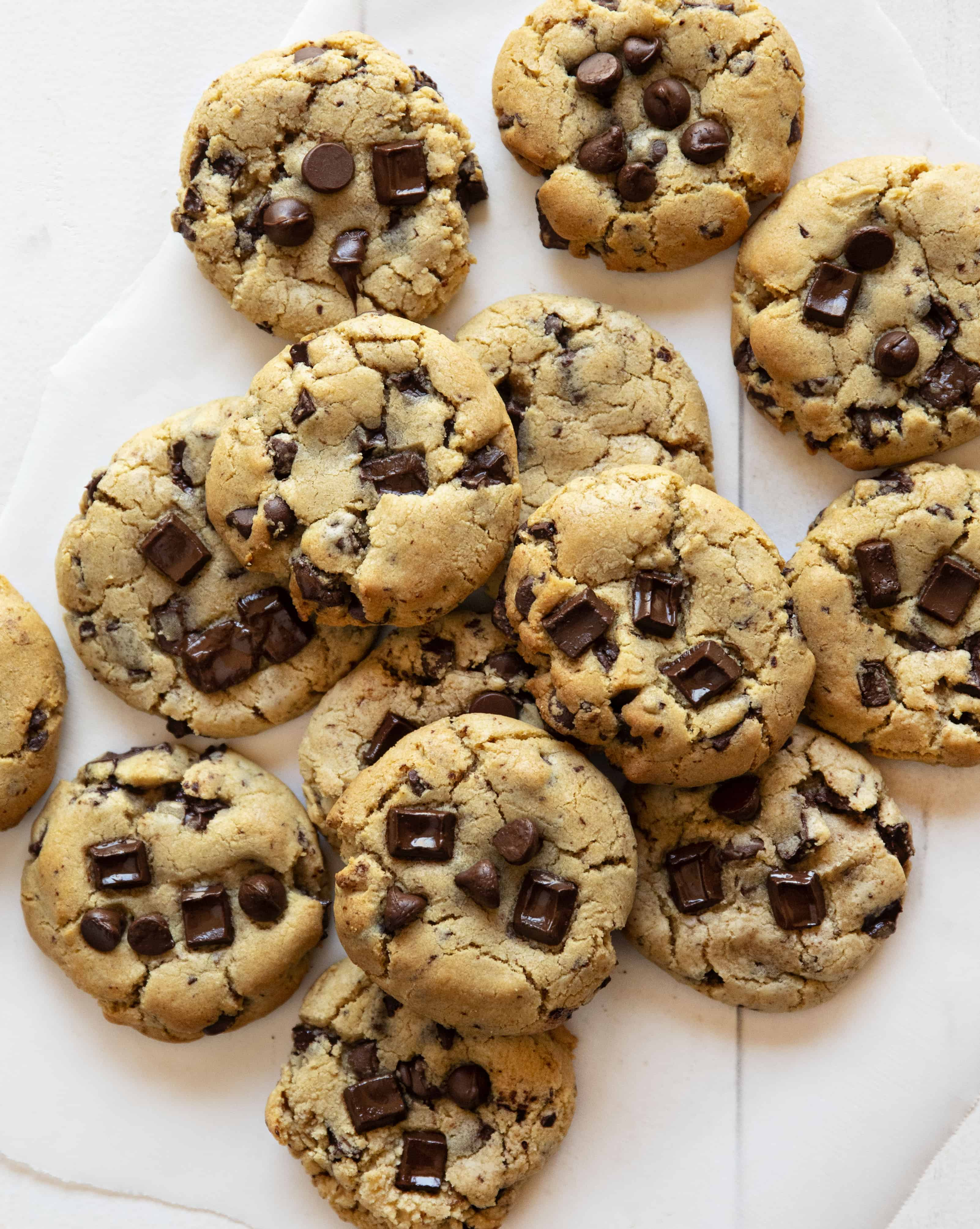 Chocolate Chip Cookies from Overhead