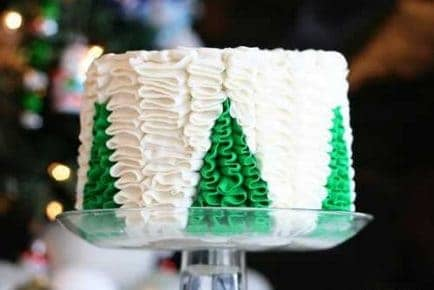 Christmas Tree Surprise Cake!