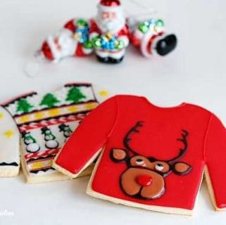 Ugly Christmas Sweater Cookies (best sugar cookie recipe)