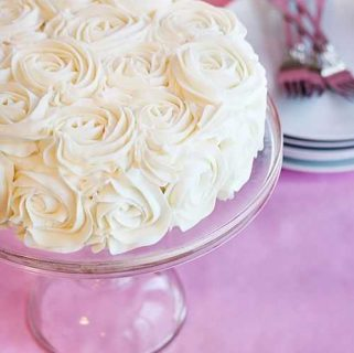 Vertical Layer Rose Cake