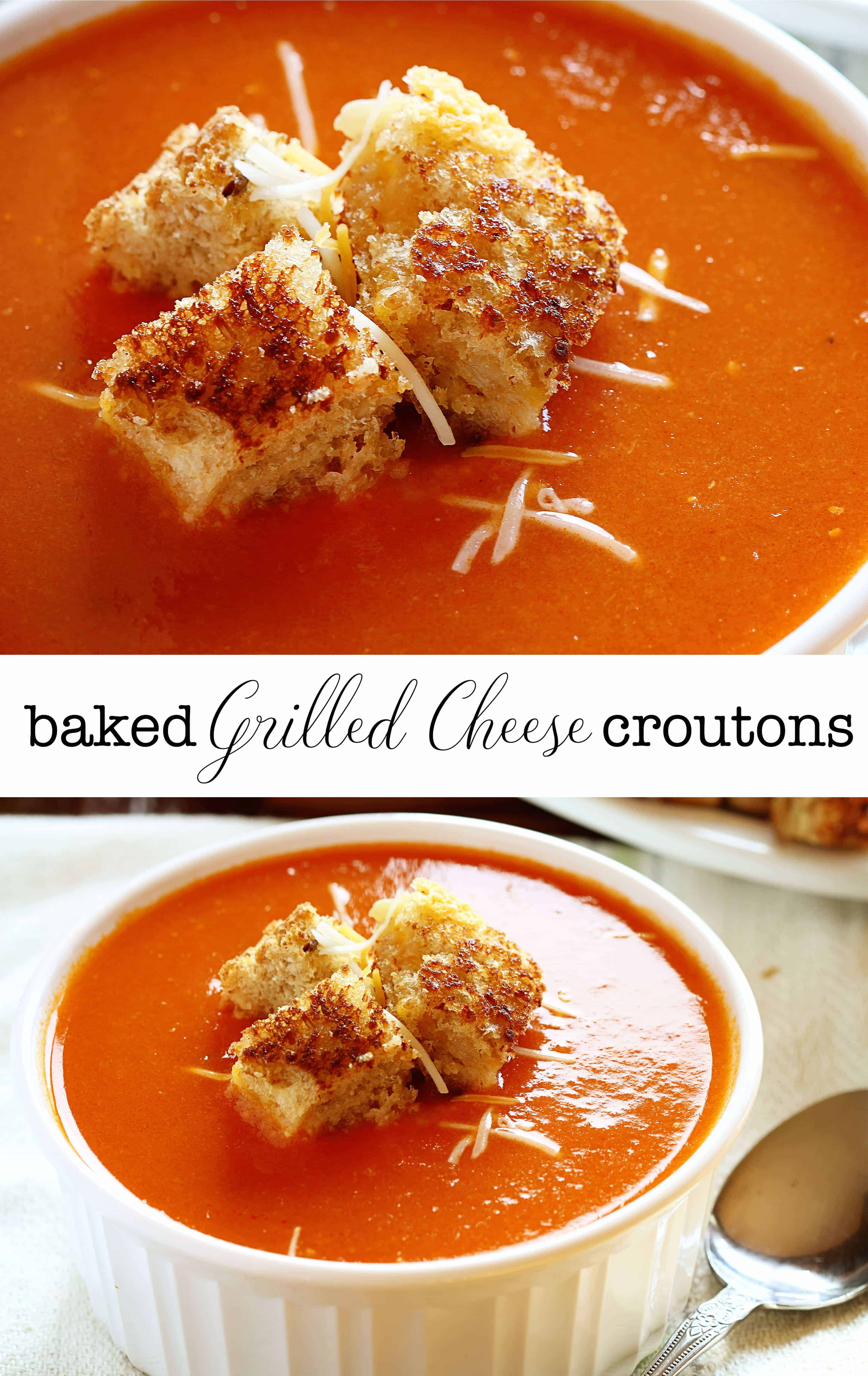The BEST Grilled Cheese Croutons!
