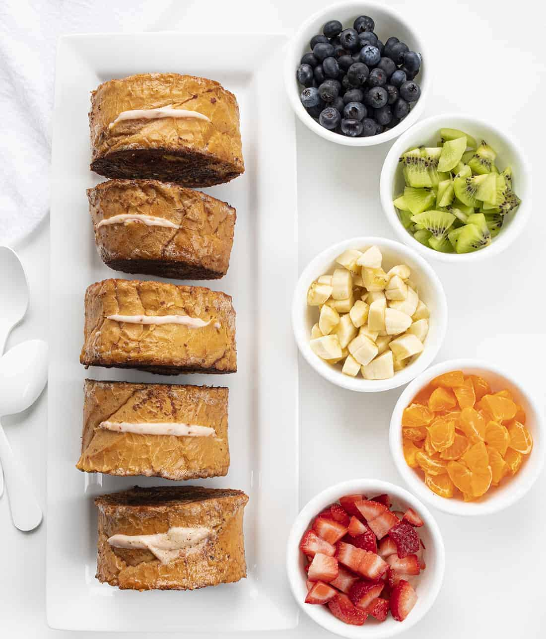 Process for Rainbow Stuffed French Toast