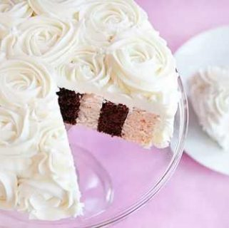 Vertical Layer Cake Tutorial {Surprise Inside Cake}