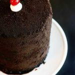 Chocolate Covered Cherry Oreo Cake