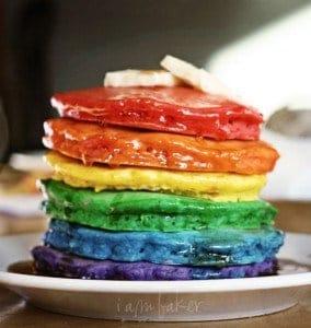 The Original Rainbow Pancakes!
