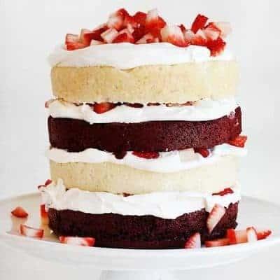 Red Velvet Strawberry Shortcake!