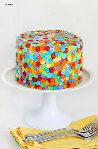 Fun & Easy Rainbow Cake!