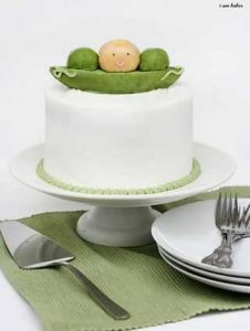 Baby Pea Baby Shower Cake