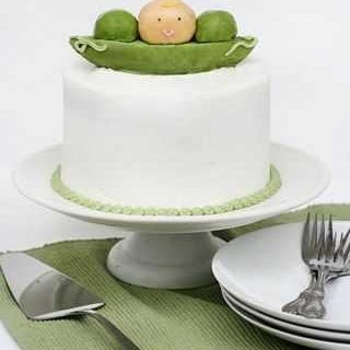 Baby Pea Baby Shower Cake