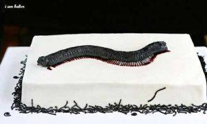 Creepy Millipede Cake