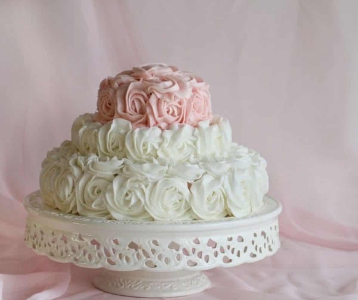 Amazing Rose Birthday Cake I Am Baker Birthday Cards Printable Trancafe Filternl