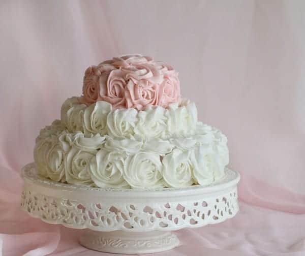 rose birthday cake