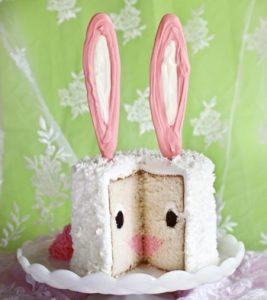 Bunny Surprise Inside Cake!