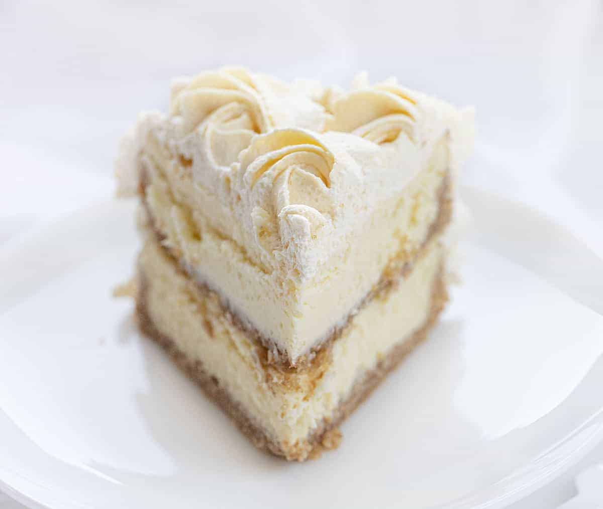 Piece of Double Decker Cheesecake