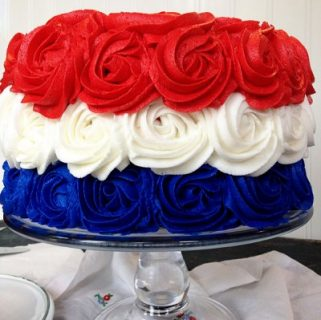 Patriotic Rose Cake {Video Tutorial}