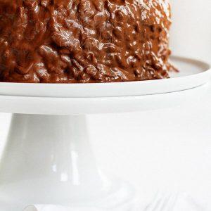 crispy caramel chocolate cake