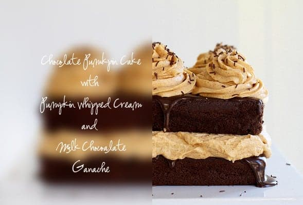 Pumpkin Chocolate Cake & Pumpkin Whipped Cream