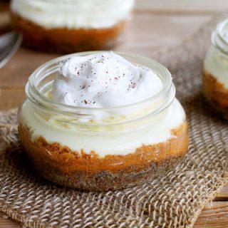 Cheesecake Pumpkin Bars in a Jar