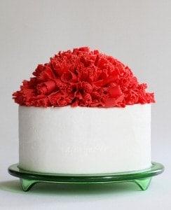 Christmas Cake with Chocolate Ruffle Curls
