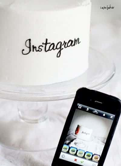 Instagram Cake {What to do about the new Instagram Policy}