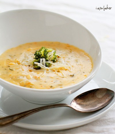 Roasted Broccoli Cheese Soup I Am Baker