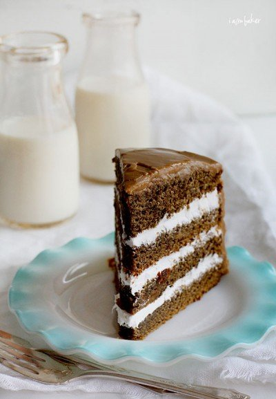 Slice of Coffee Cream Cake