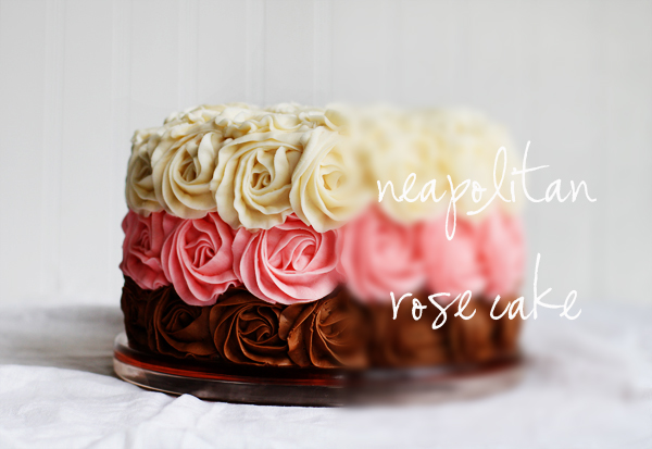 Images For Rose Cake : Neapolitan Rose Cake - i am baker