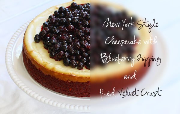 ... Style Cheesecake with Red Velvet Crust and Homemade Blueberry Topping