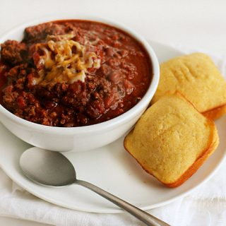Homemade Cornbread and Cocoa Chili