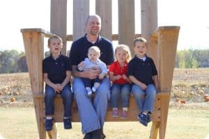 Chad and Kids at Pumpkin Patch