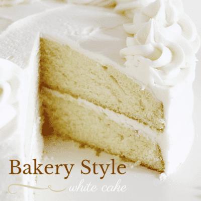 bakery style white cake