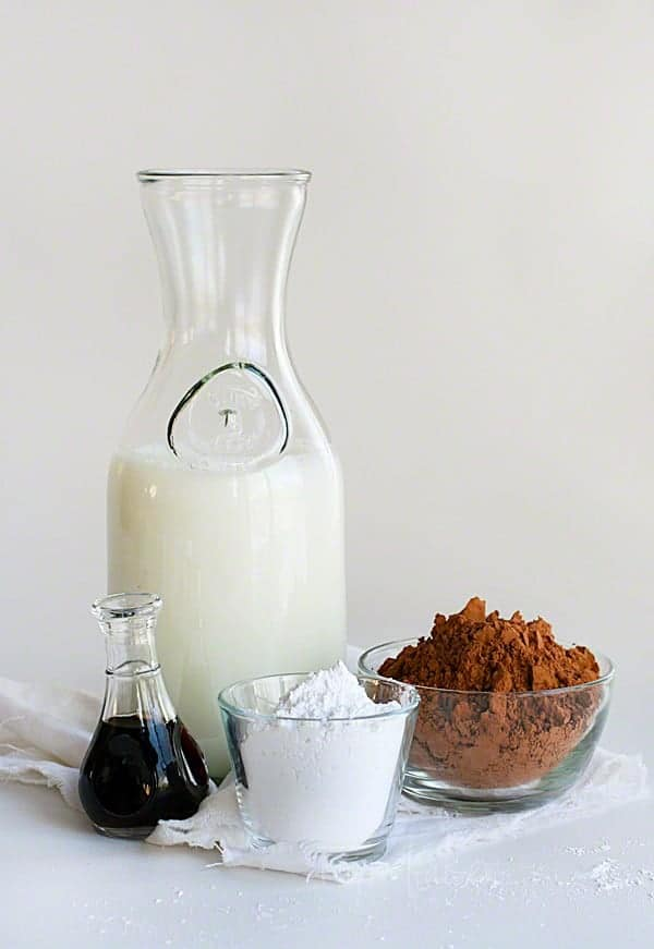 Homemade Chocolate Milk ~ Four Easy Ingredients from iambaker.net