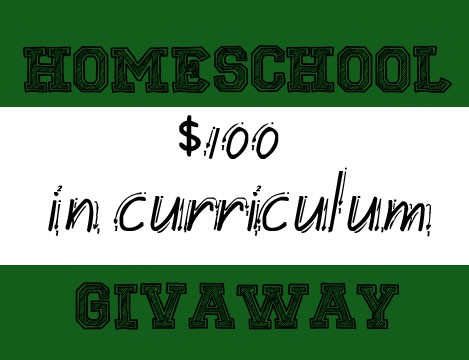 Homeschool Giveaway: $100 in the Curriculum of your choice!
