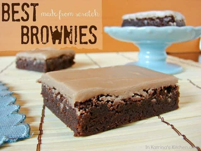 From Scratch brownies by InKatrinasKitchen.com