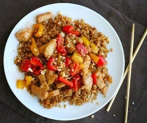 Healthy Kung Pao Chicken from steamy kitchen