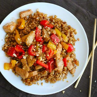 Kung Pao Chicken {healthy asian favorites: steamy kitchen}