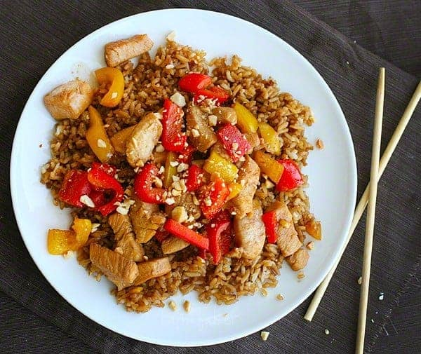 Kung Pao Chicken {healthy asian favorites: steamy kitchen} | i am baker