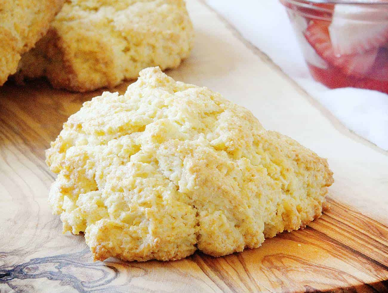 Tequila Strawberry Shortcake - Homemade Cornmeal Biscuit