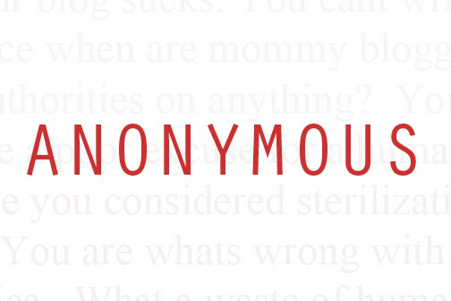 Anonymous Comments on WebSites: Why its should not be allowed