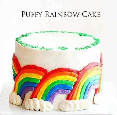 Puffy Rainbow Cake (with a surprise inside!)