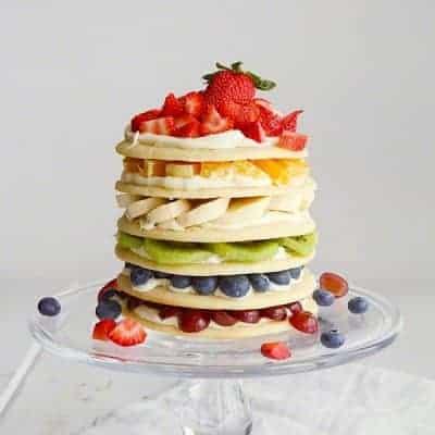 rainbow fruit pizza cake