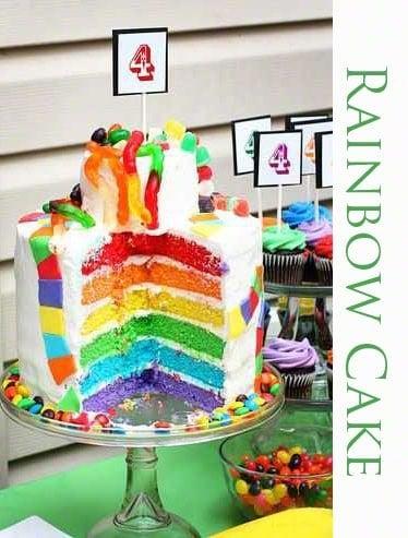 Candyland Inspired Rainbow Cake