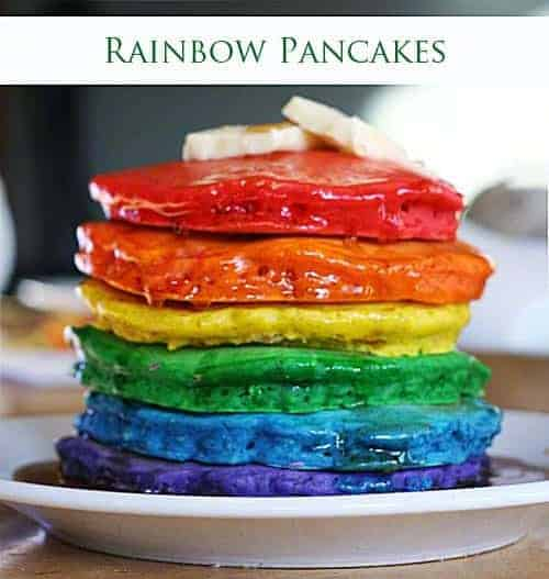The Original Rainbow Pancakes