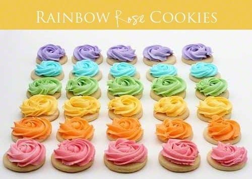 Rose Rainbow Cookies