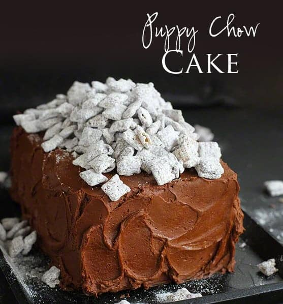 Puppy Chow Cake