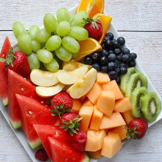 fruit platters (recipe) and a parenting fail
